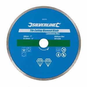 Disque Diamant 180 : disque diamant 180 mm pour carrelage silverline 993035 ~ Edinachiropracticcenter.com Idées de Décoration