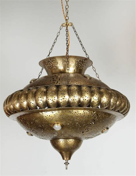 moroccan brass pendant in alberto pinto style for sale at
