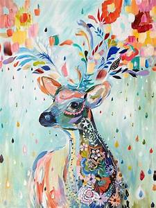 Deer Abstract Painting | Art | Pinterest