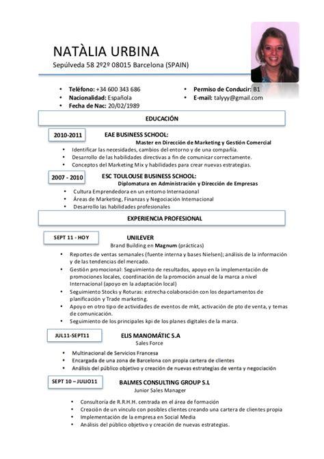 Templates De Resume En Espanol by Cv