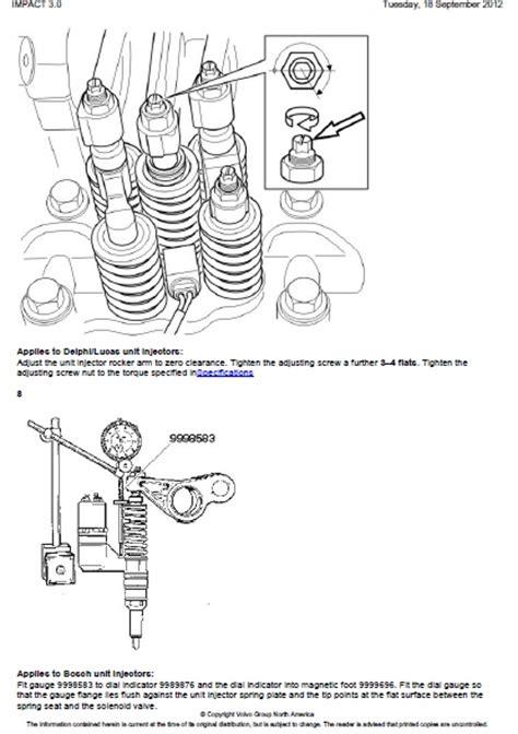 volvo nh valves  unit injectors adjust auto repair
