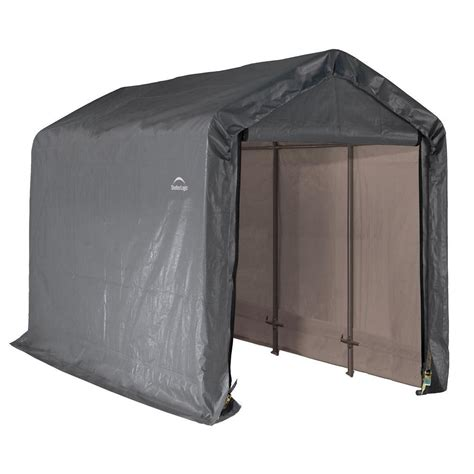 Shelterlogic Shed In A Box Home Depot by Shelterlogic Shed In A Box 6 Ft X 12 Ft X 8 Ft Grey