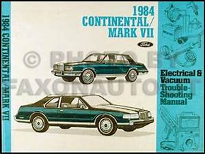 1984 Continental  Mark Vii Diesel Electrical Troubleshooting Manual Supp