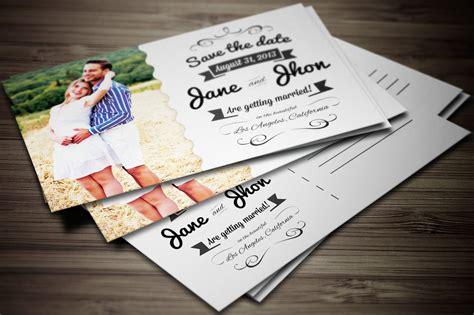 Elegant Wedding Invitation Postcard ~ Wedding Templates
