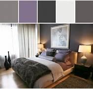 Gray And Purple Bedroo...