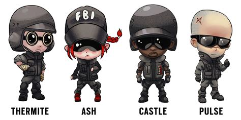 siege cotoons rainbow six siege on quot we made some chibi