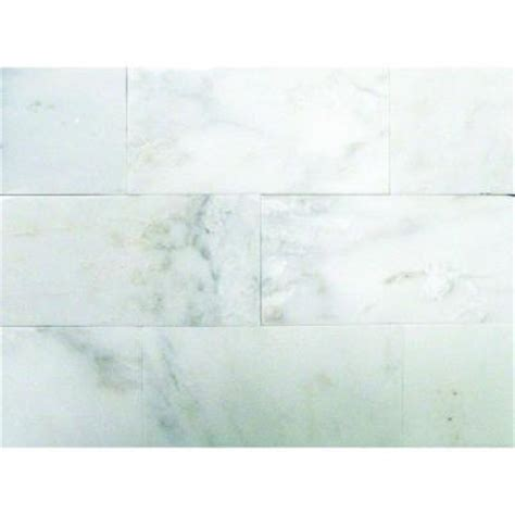 home depot marble tile 12x24 ms international greecian white 3 in x 6 in polished