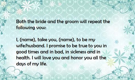 Traditional Catholic Wedding Vows