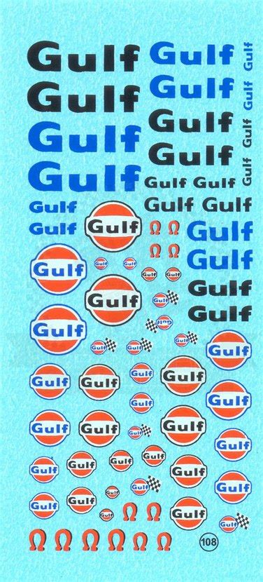 gulf logo decal  virage
