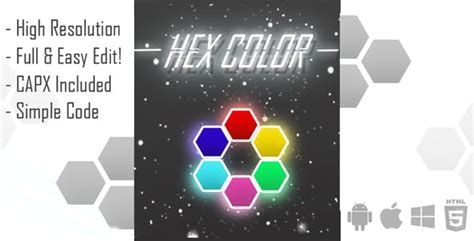 Hex Color Html Game Template (capx) By Artpire