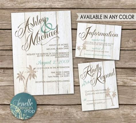 rustic beach wedding invitations invitation kit thank