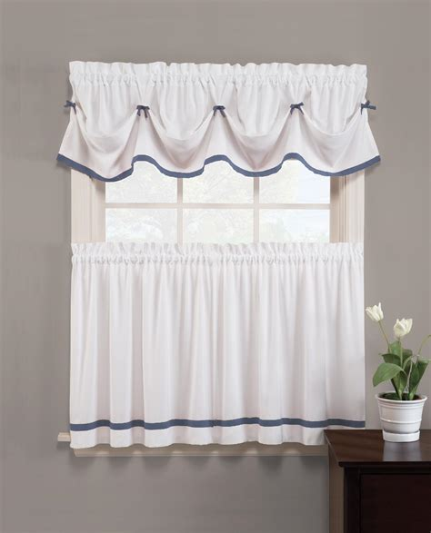 blue valance curtains sears