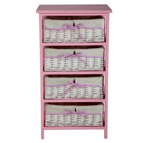 cassettiere maison du monde cassettiera 4 cassetti in legno di paulownia rosa l 46 cm