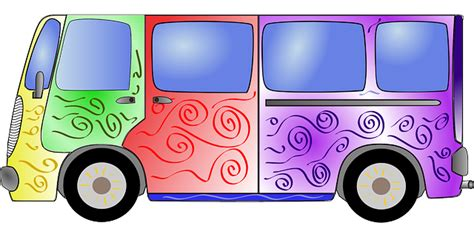 bus colorful hippie  vector graphic  pixabay
