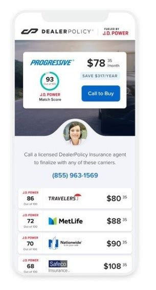 Our agency offers specialized insurance policies that are designed just for the unique coverage needs of auto and rv dealers. DealerPolicy Teams & J.D. Power Partner To Create Personalized Auto Insurance Quotes to Car ...