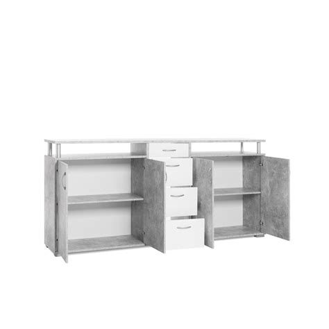 Kensington Sideboard by Kensington Wooden Sideboard In Concrete And White 31885