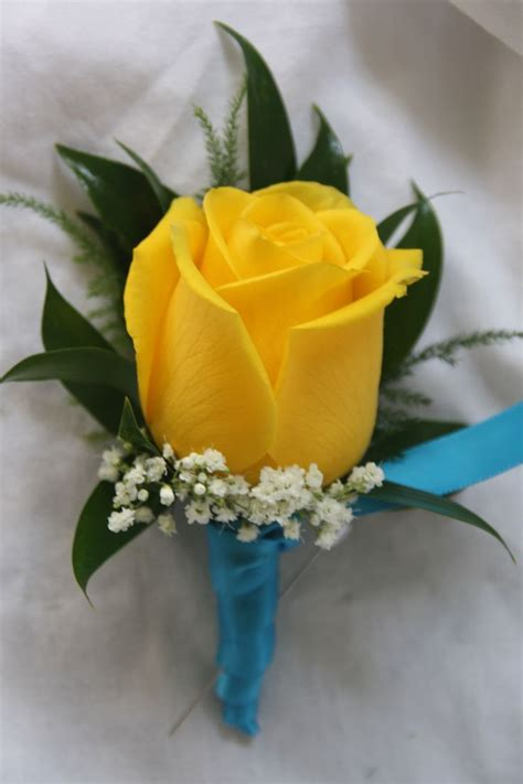 yellow rose boutonniere flowers   rose flower