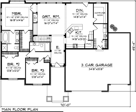 floor plans ranch homes bedrooms quotes house plans