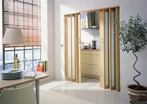les portes pliantes design en 44 photos With porte pliante separation piece