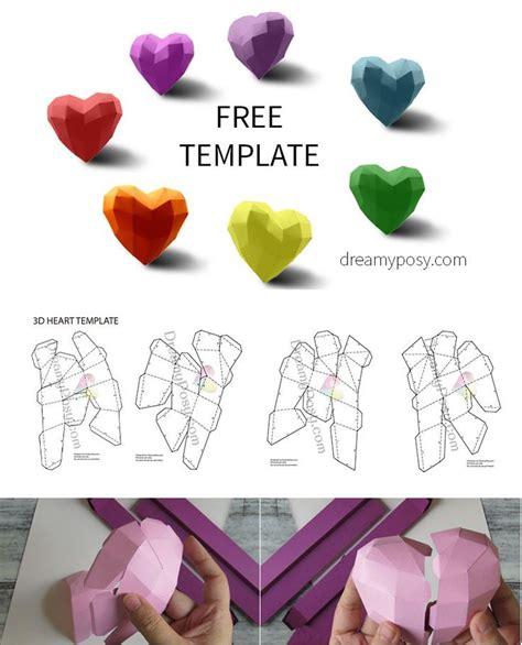 template   paper  heart   valentine