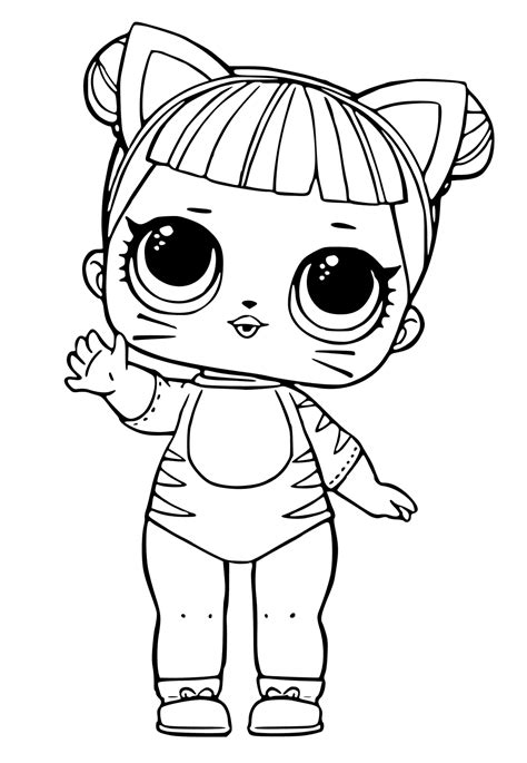 coloring doll lol dolls coloring pages printables lol dolls
