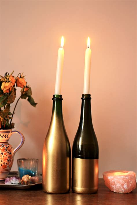 Candle Holders by Diy Wine Bottle Candle Holders Jessthetics