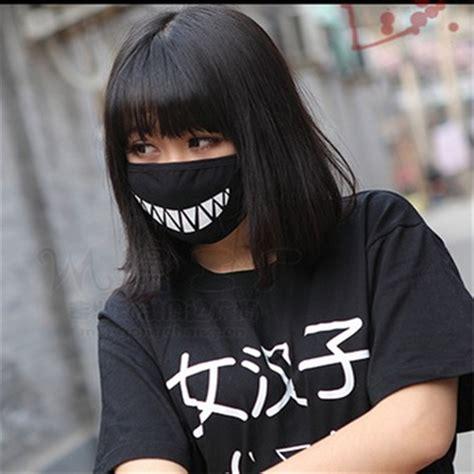harajuku ulzzang japanese teeth face mouth mask korean