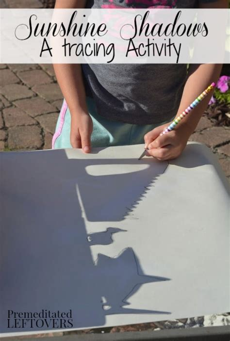 sunshine shadows tracing activity  kids