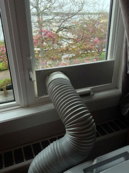 put  portable air conditioner   room   casement