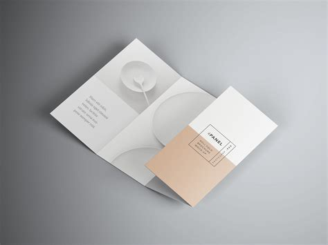 4 Panel Brochure Roll Fold Template Free Four Panel Roll Fold Brochure Psd Mockup Free