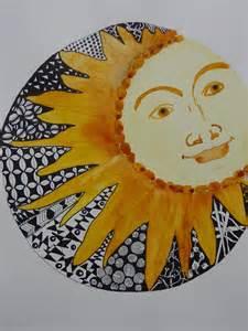 Zentangle Sun Painting