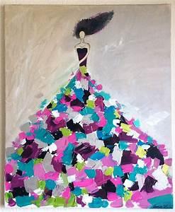 Tableau Moderne Coloré : tableau moderne femme tableau femme abstrait tableau colore deco pinterest tableau ~ Teatrodelosmanantiales.com Idées de Décoration