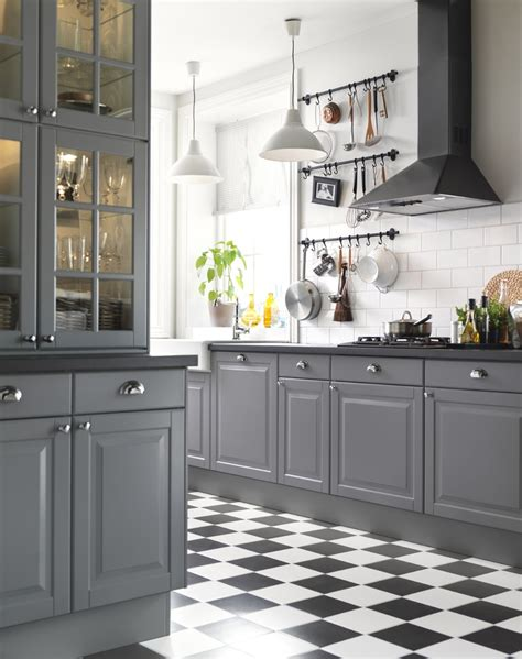 ikea gray kitchen cabinets ikea österreich inspiration küche front lidingö griff