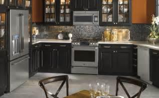 black kitchen furniture black and orange kitchen photo ge appliances