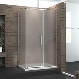 Paroi Baignoire D Angle : paroi de douche d 39 angle cerra en verre sabl pour une ~ Premium-room.com Idées de Décoration