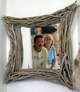 Miroir Bois Flotté : miroir et cadre en bois flott ~ Teatrodelosmanantiales.com Idées de Décoration