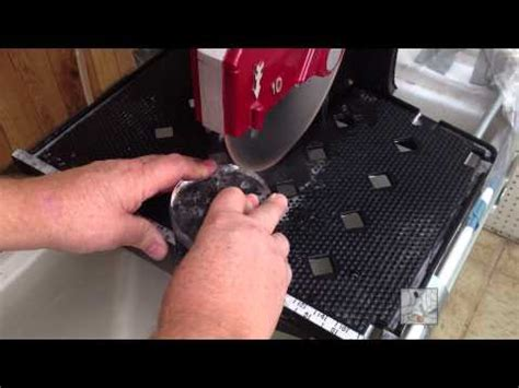 cutting a wine bottle to make a wine glass with a tile saw how to save money and do it yourself