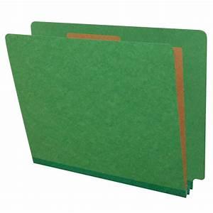 green letter size classification folders end tab 1 divider With classification folders 1 divider letter size