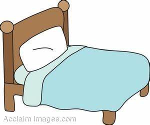 Bed clipart cartoon making - Pencil and in color bed ...