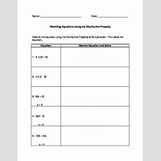 Rewriting & Solving Equations Using The Distributive