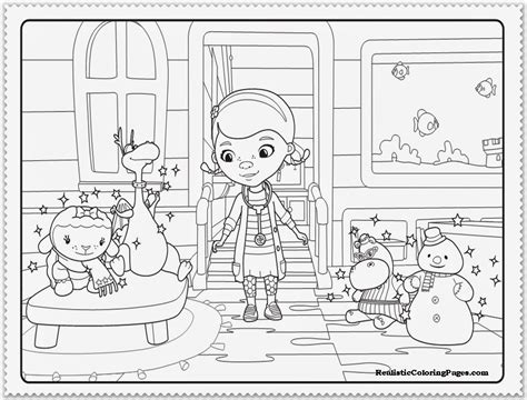 mcstuffins christmas coloring pages coloring home