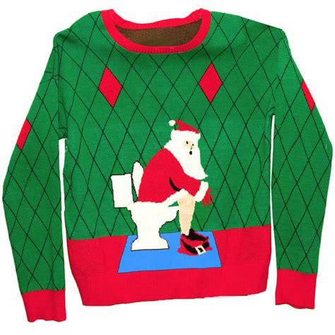 igly sweater sweater in a box toilet santa stupid com