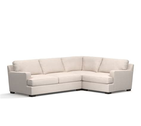 pottery barn townsend sofa townsend upholstered square arm 3 piece sectional with