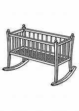 Bed Coloring Cradle Cradles Psf Wikimedia Commons sketch template
