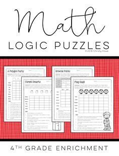 5th grade math brain teasers worksheets briefencounters