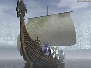 Free 3D Wallpaper 'Viking Ship' 1024x768