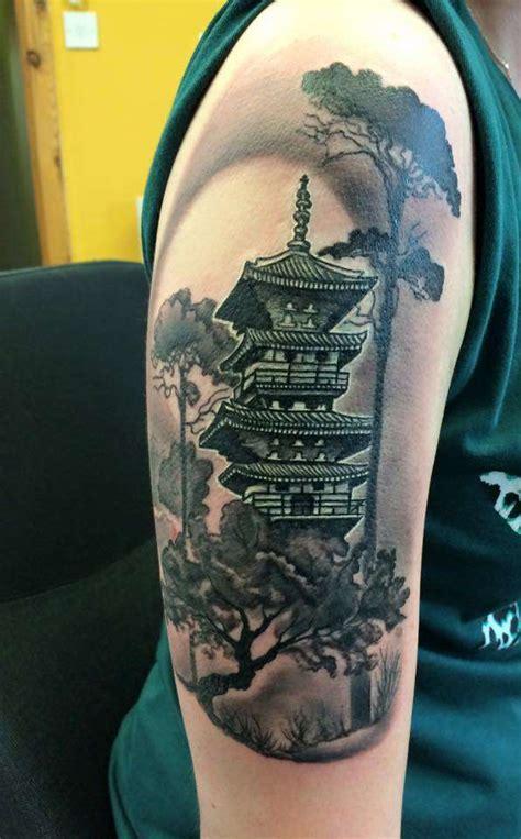 japanese pagoda tattoo