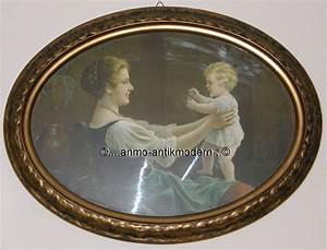 Großer Spiegel Ohne Rahmen : gro er alter bilderrahmen oval 82 5 x 63 rahmen bild ~ Michelbontemps.com Haus und Dekorationen