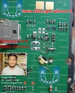 Nokia 1616 Light Without Ic Display Keypad Led 100  Tested