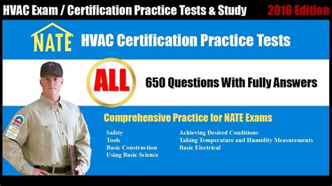 nate free practice test all hvac certification practice tests youtube